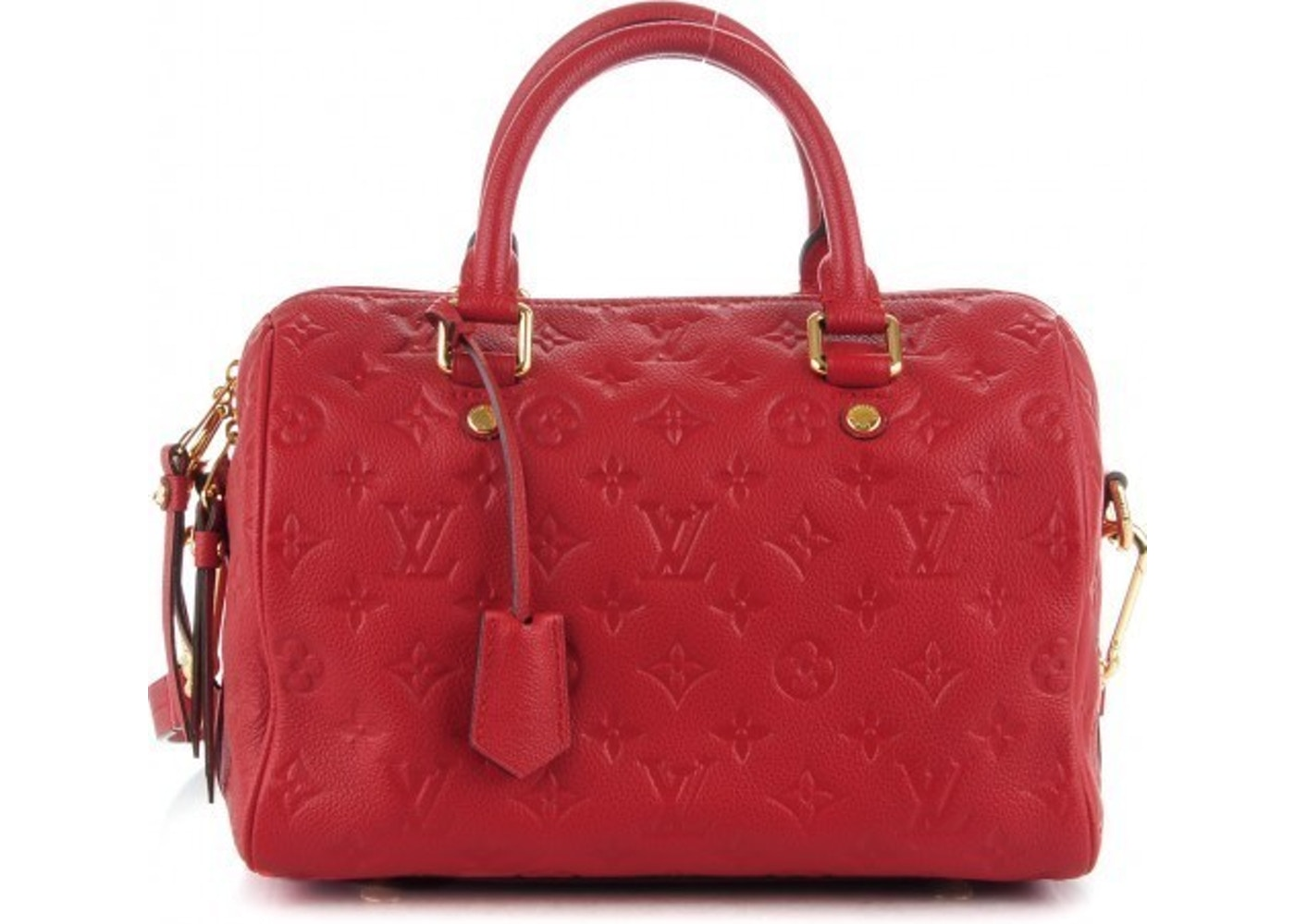 b5b7eb337b4b2c Sell. or Ask. View All Bids. Louis Vuitton Speedy Bandouliere Monogram  Empreinte 25 Cerise Cherry