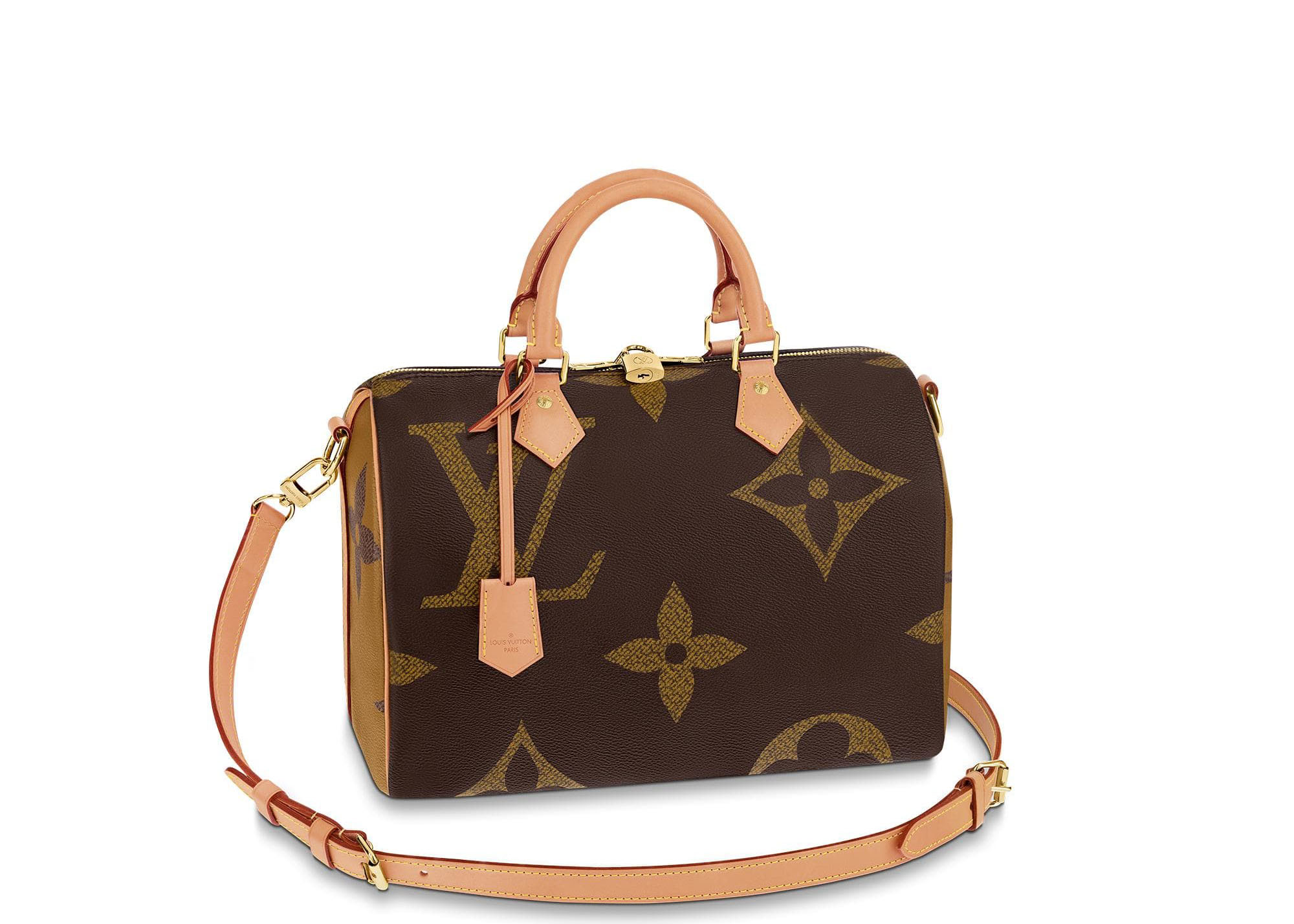 Louis Vuitton Speedy Bandouliere Monogram Giant Reverse 30 Brown
