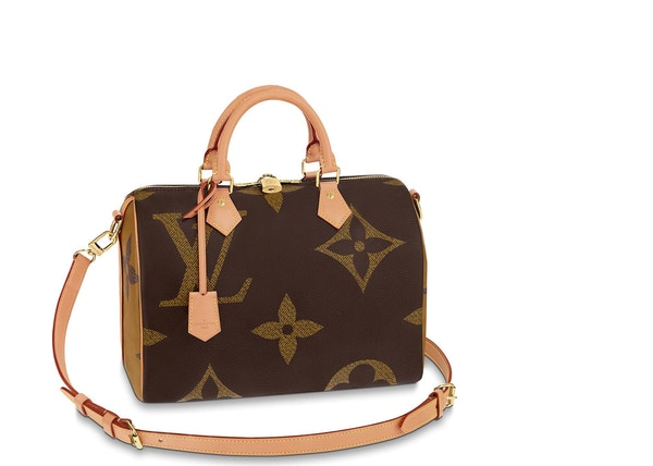 9276201c82ae Louis Vuitton Speedy Bandouliere Monogram Giant Reverse 30 Brown
