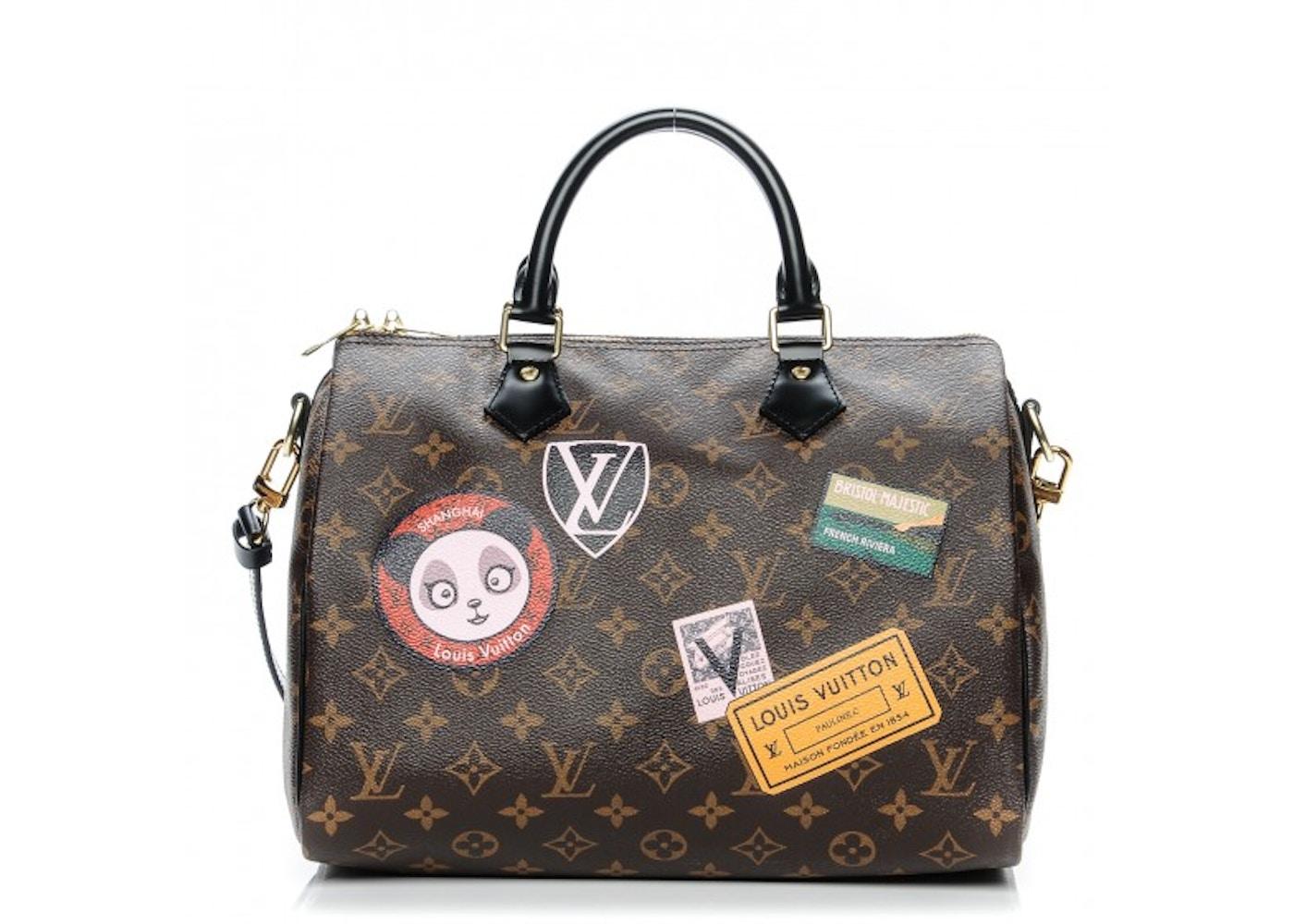 Louis Vuitton Speedy Bandouliere Monogram World Tour Without Accessories 30 Brown Multicolor