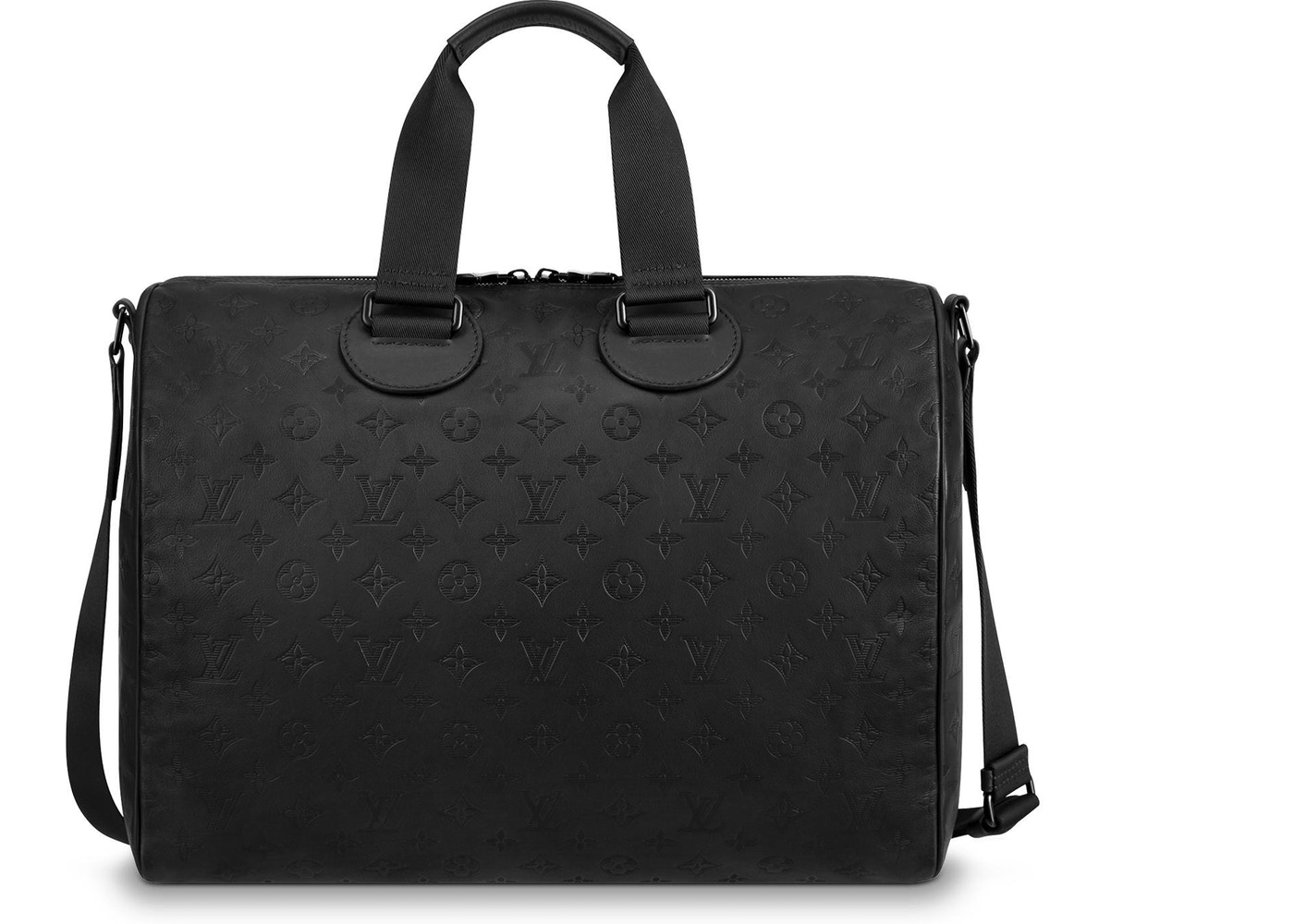 ab8376ff1402 Louis Vuitton Speedy Bandouliere Monogram Shadow 40 Black