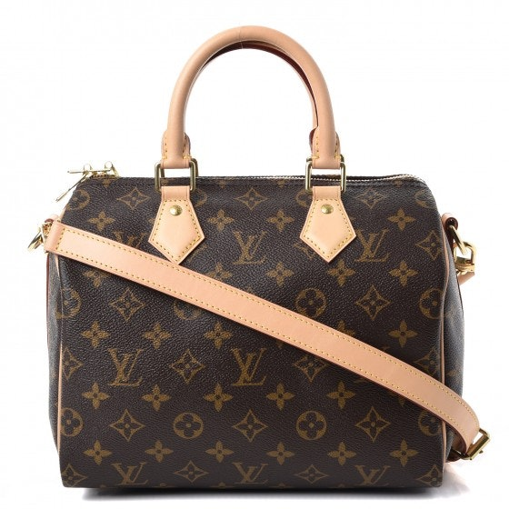 Louis Vuitton Speedy Bandouliere Monogram With Accessories 25 Brown