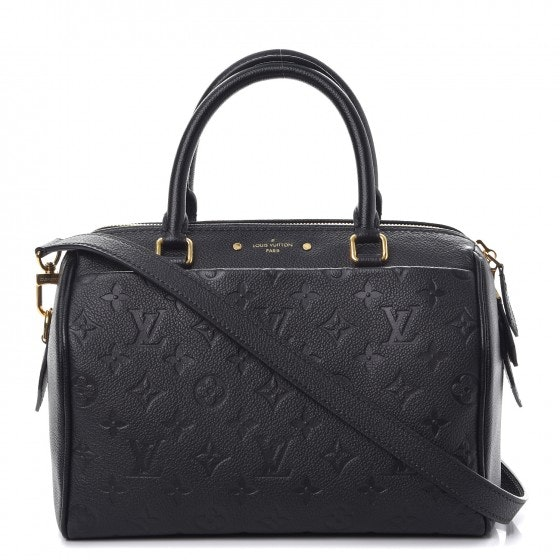 Louis Vuitton Speedy Bandouliere NM Monogram Empreinte 25 Noir Black