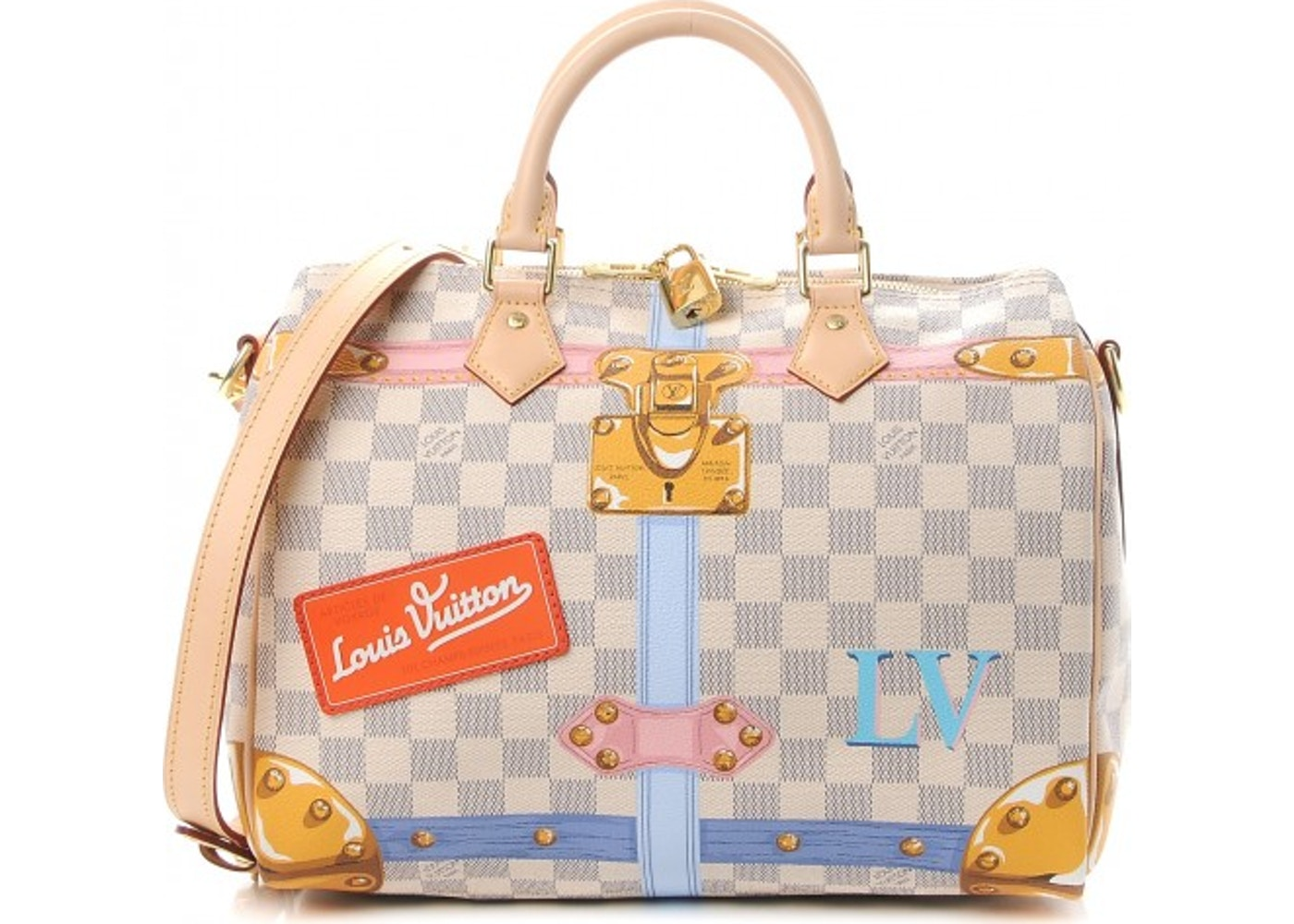 3080dc0616a3 Louis Vuitton Speedy Bandouliere Damier Azur Summer Trunk ...