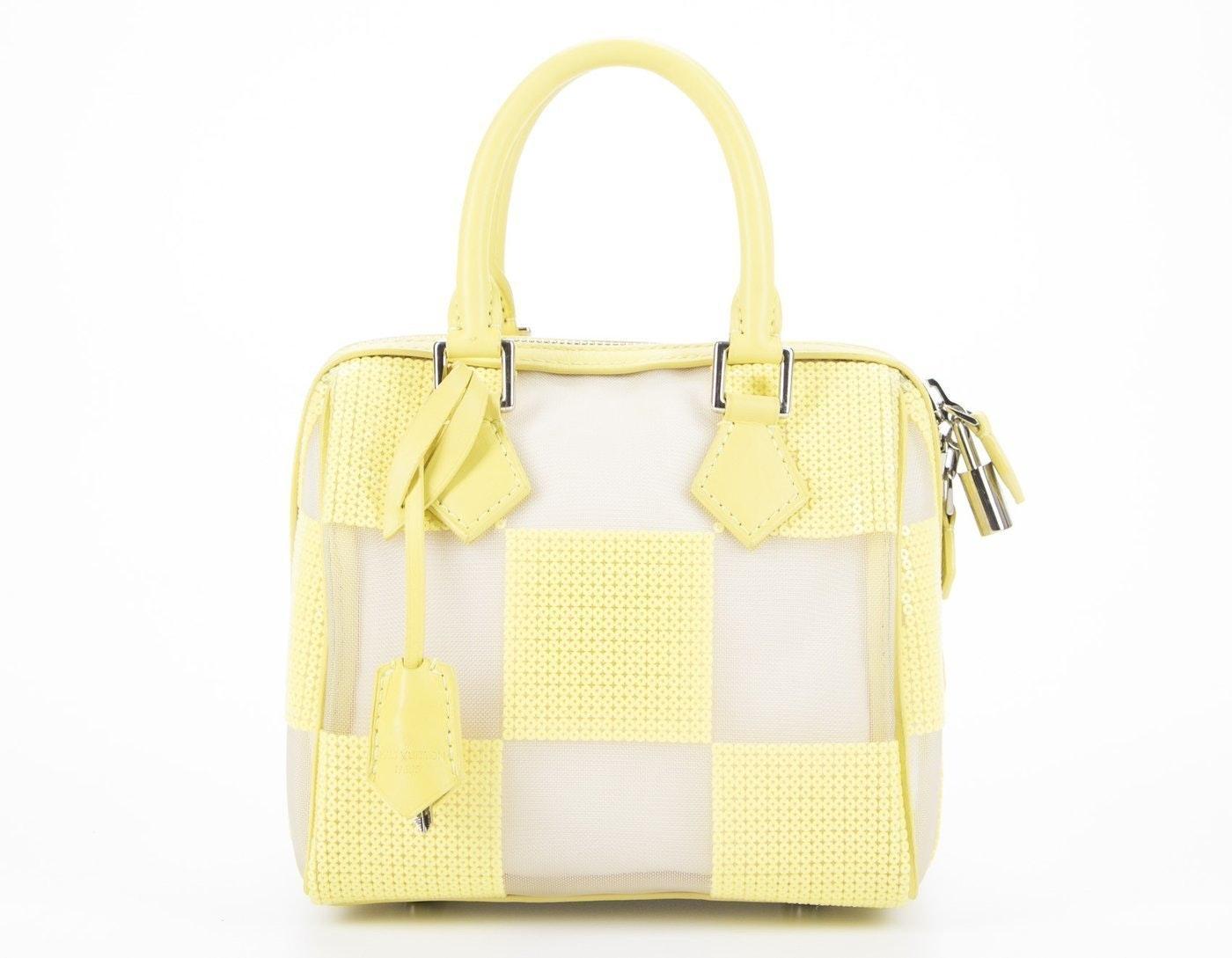 Louis Vuitton Speedy Cube Damier Optic Mesh Yellow