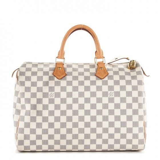 louis vuitton damier azur. louis vuitton speedy damier azur 35 white
