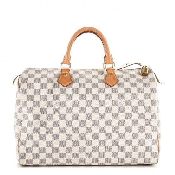 Louis Vuitton Speedy Damier Azur 35 White