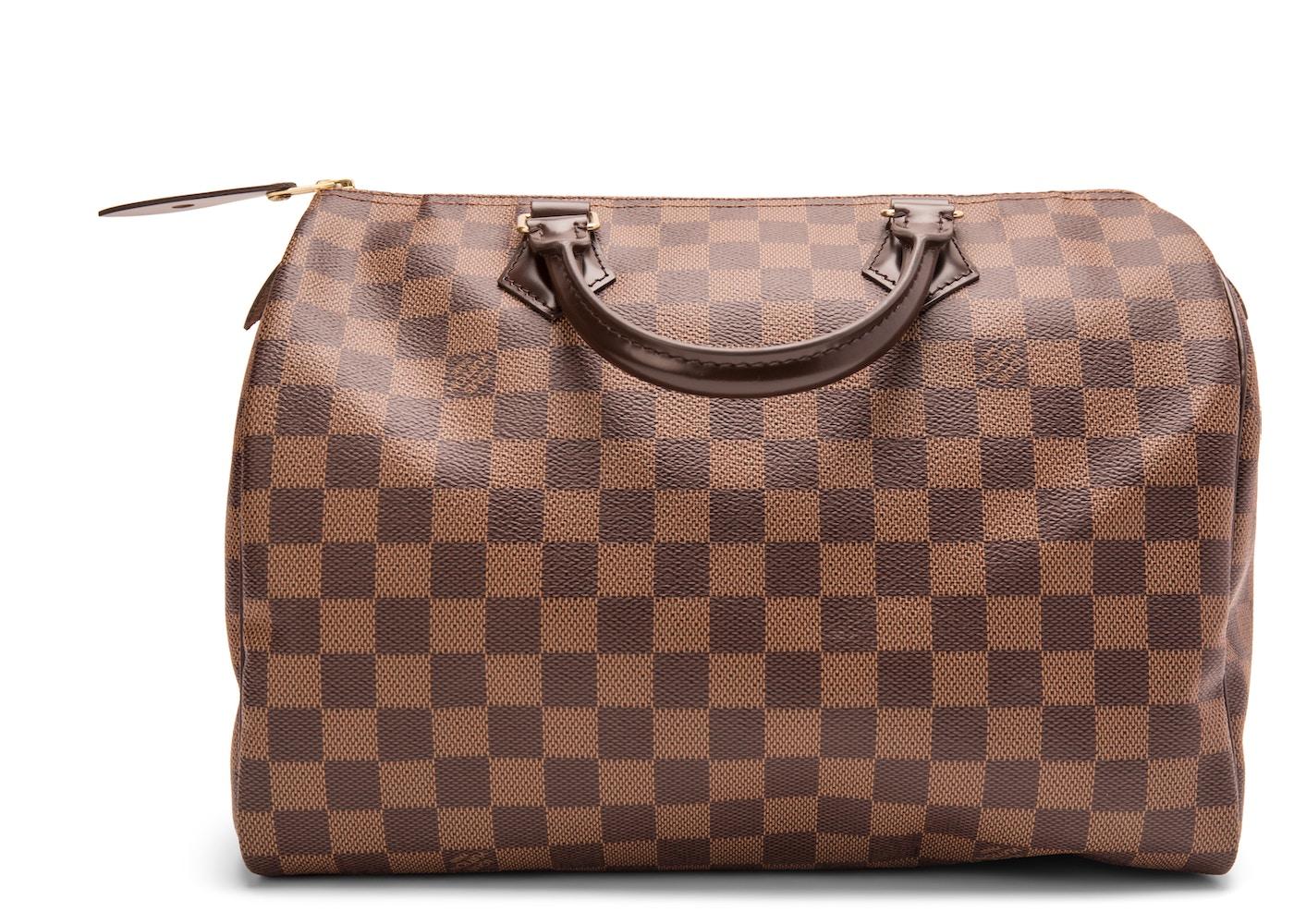 bc4190bf2a9f Louis Vuitton Speedy Damier Ebene 30 Brown