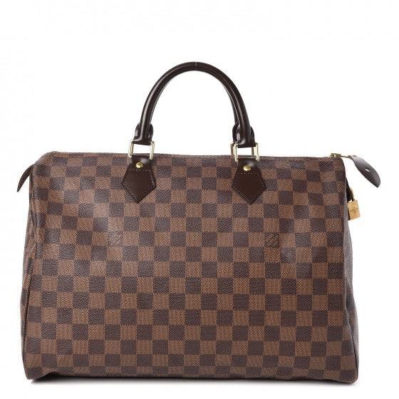 Louis Vuitton Speedy Damier Ebene With Accessories 35 Brown