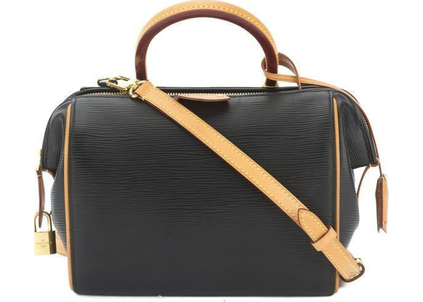 eab8019558aa Sell. or Ask. View All Bids. Louis Vuitton Speedy Doc Bag Epi Vanchetta  Leather Handle BB Black Brown