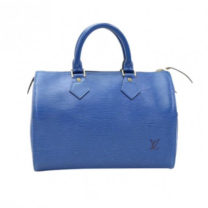 Louis Vuitton Speedy Epi 25 Blue