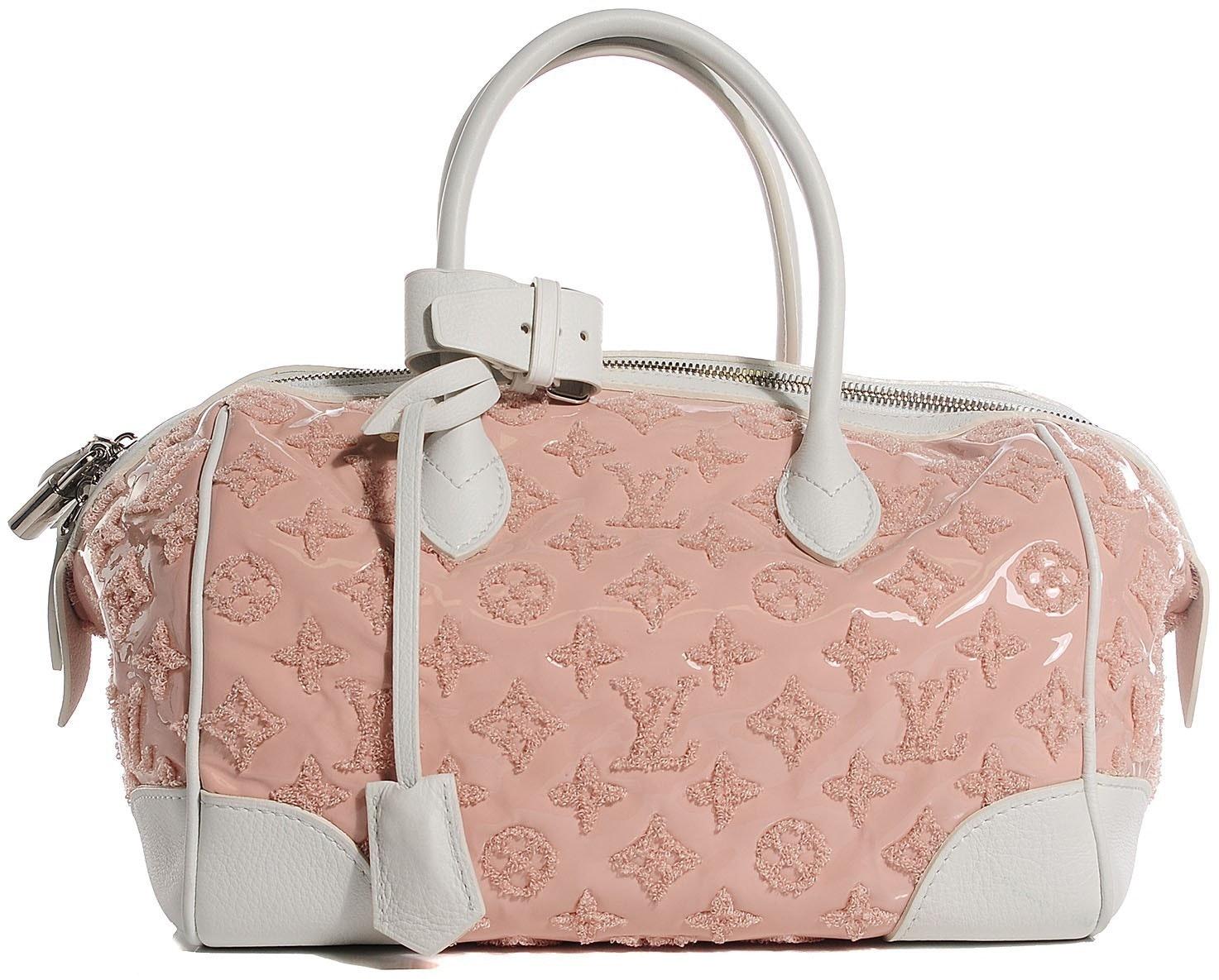 Louis Vuitton Speedy Round Monogram Bouclettes Rose/White