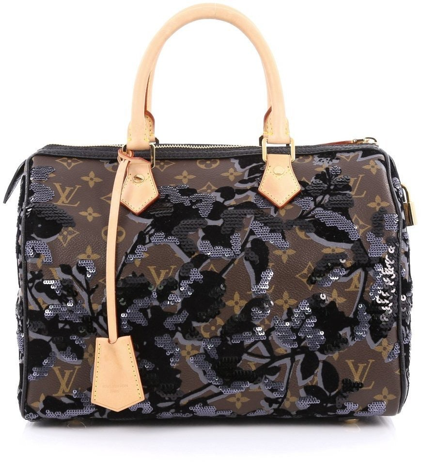 Louis Vuitton Speedy Monogram Fleur De Jais 30 Brown/Black