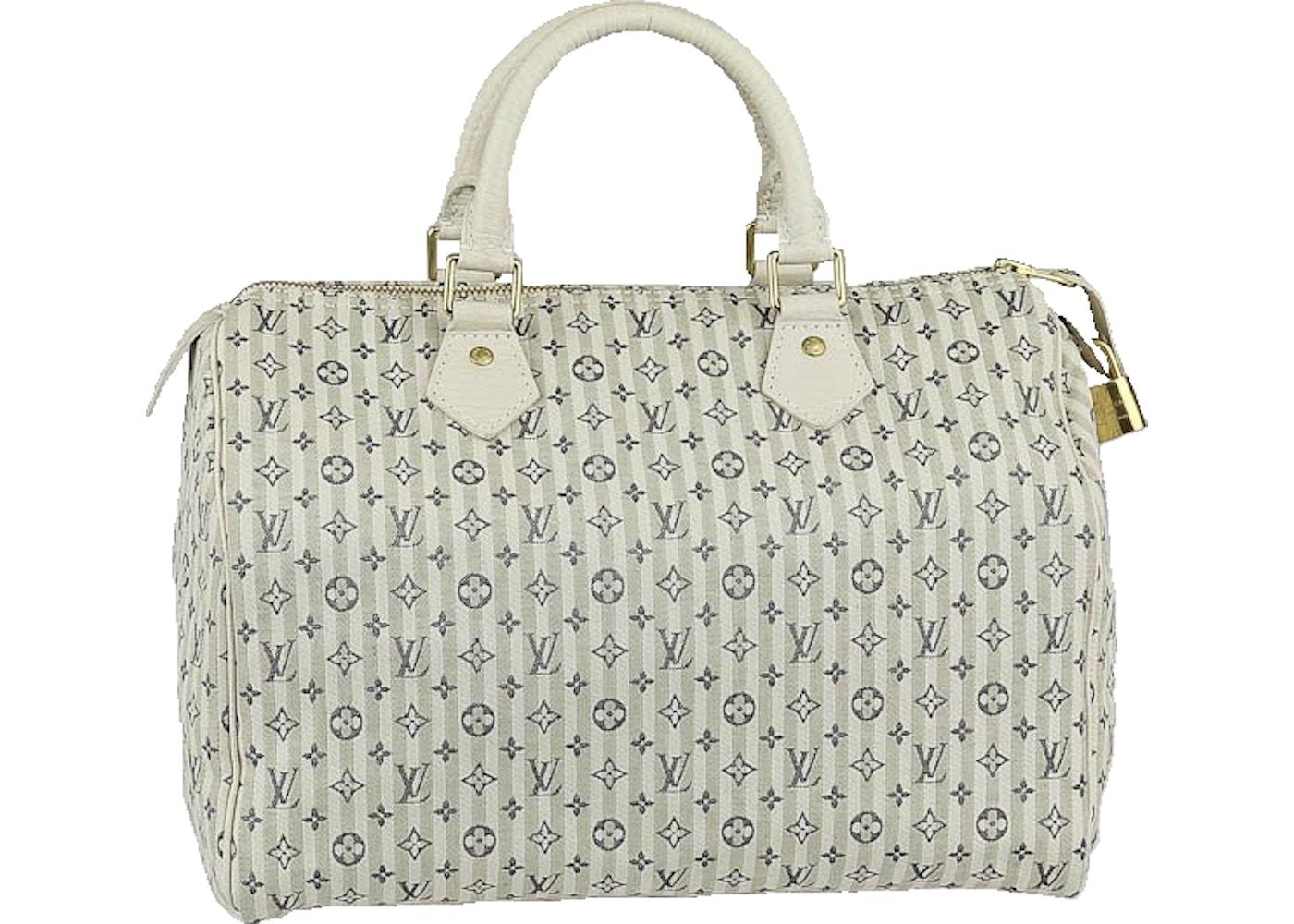 6151a6a2b7c1 Sell. or Ask. View All Bids. Louis Vuitton Speedy Monogram Mini Lin  Croisette 30 Blue White