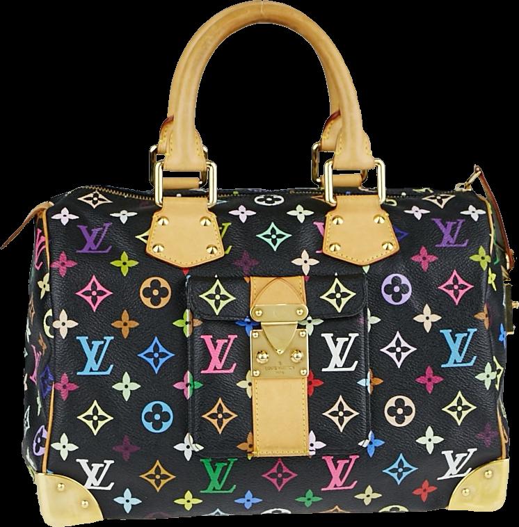 Louis Vuitton Speedy Monogram Multicolore 30 Black