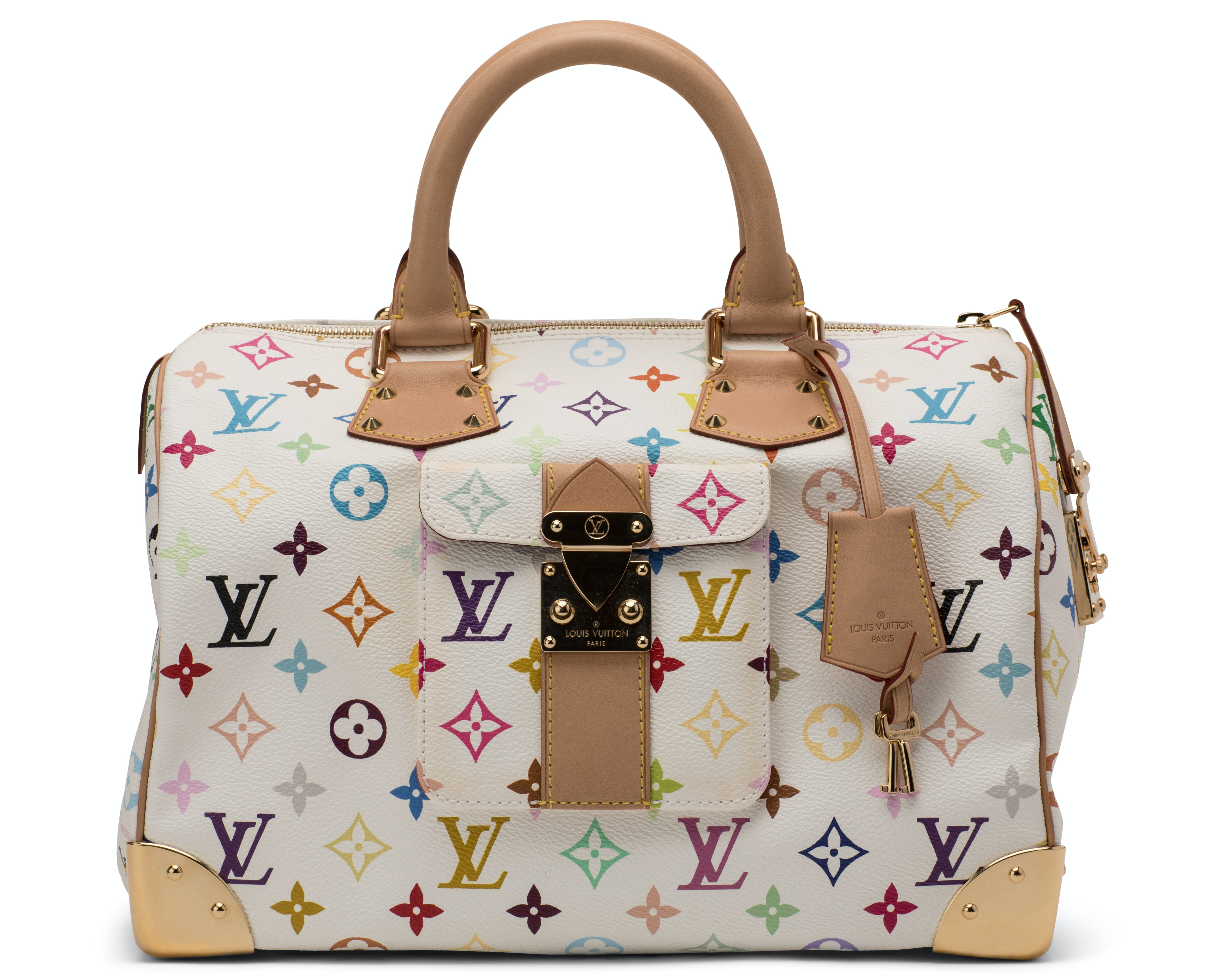Louis Vuitton Speedy Monogram Multicolore 30 White