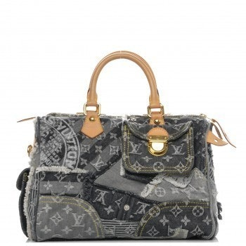 Louis Vuitton Speedy Monogram Patchwork 30 Grey