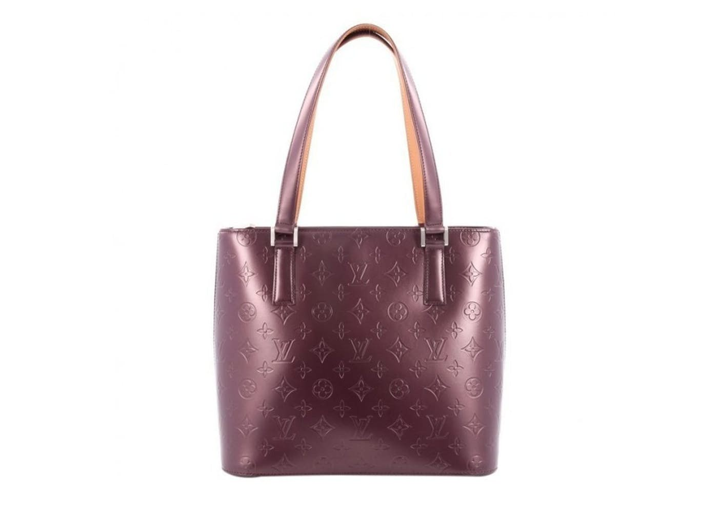 louis vuitton tote stockton monogram vernis mat maroon. Black Bedroom Furniture Sets. Home Design Ideas