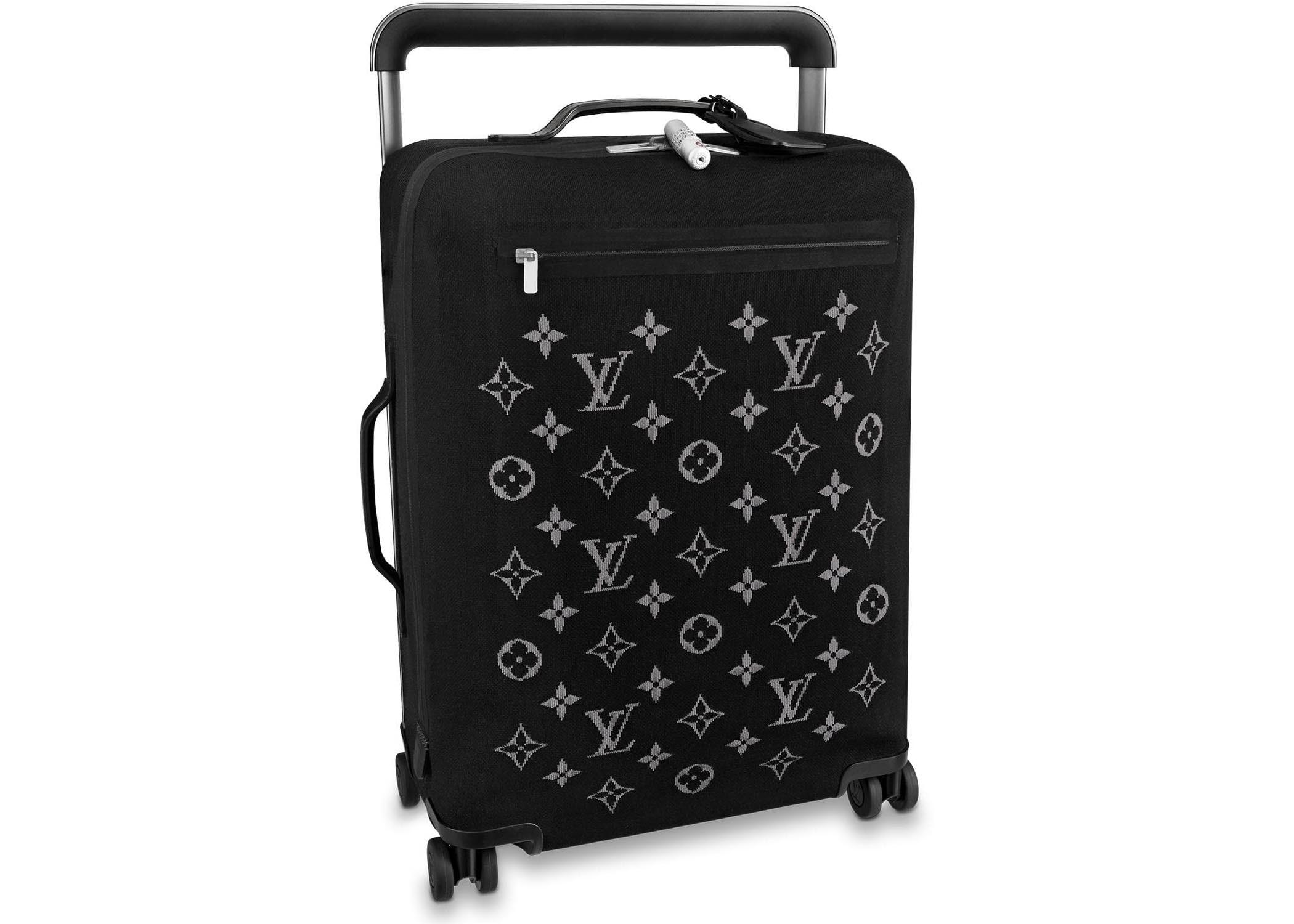 Louis Vuitton Horizon Suitcase Soft Jacquard 55 Black