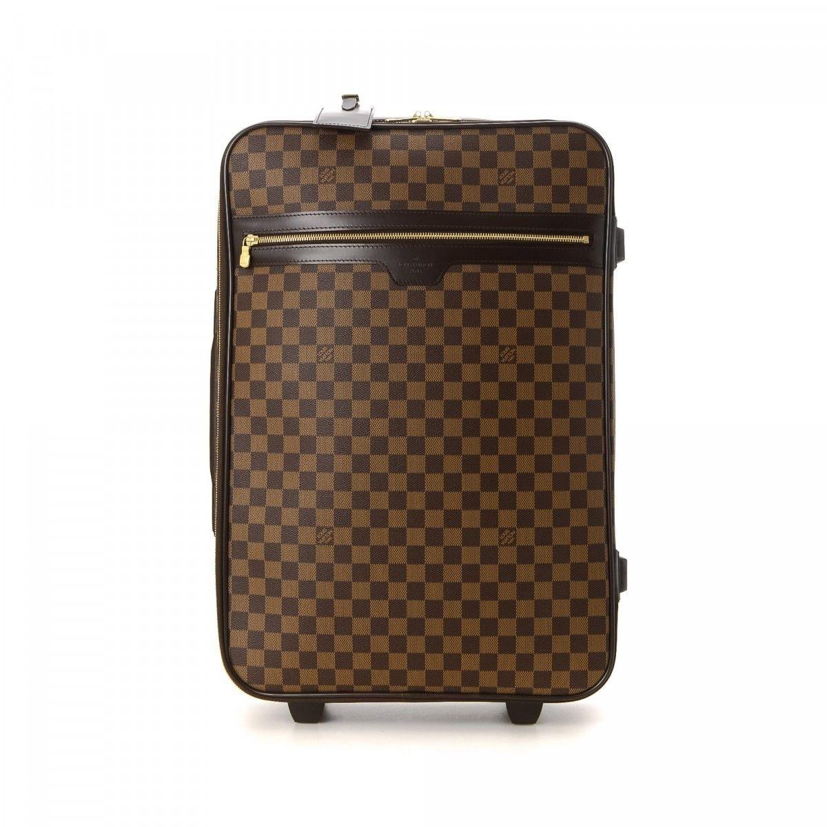 Louis Vuitton Suitcase Pegase Damier Ebene 55 Brown