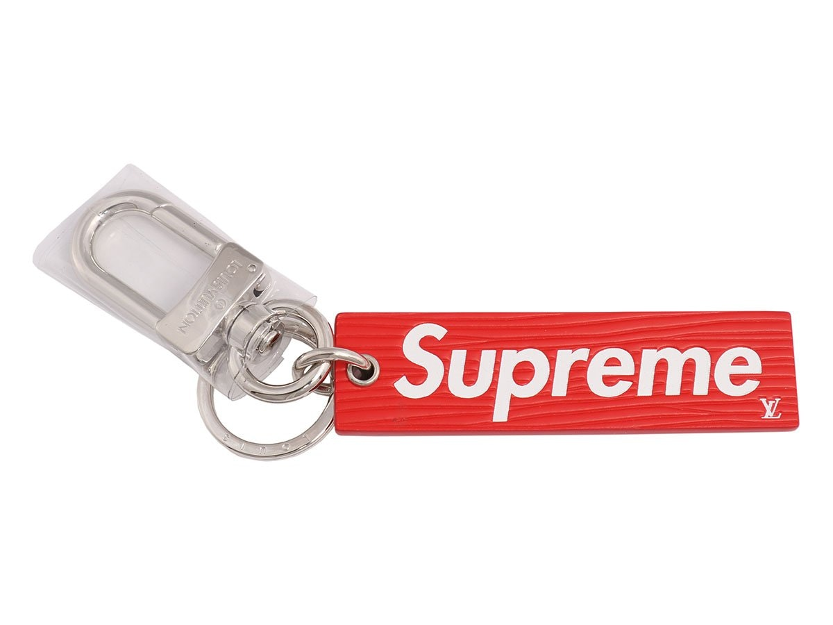 Louis Vuitton Supreme Epi Keychain Red