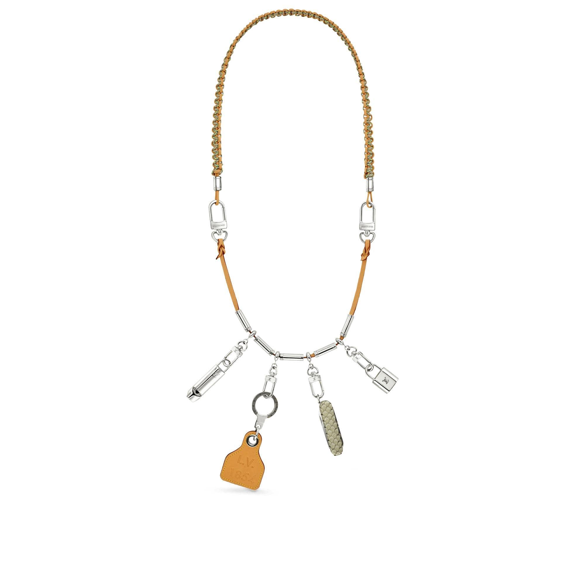Louis Vuitton Survival Necklace Gold Multicolor
