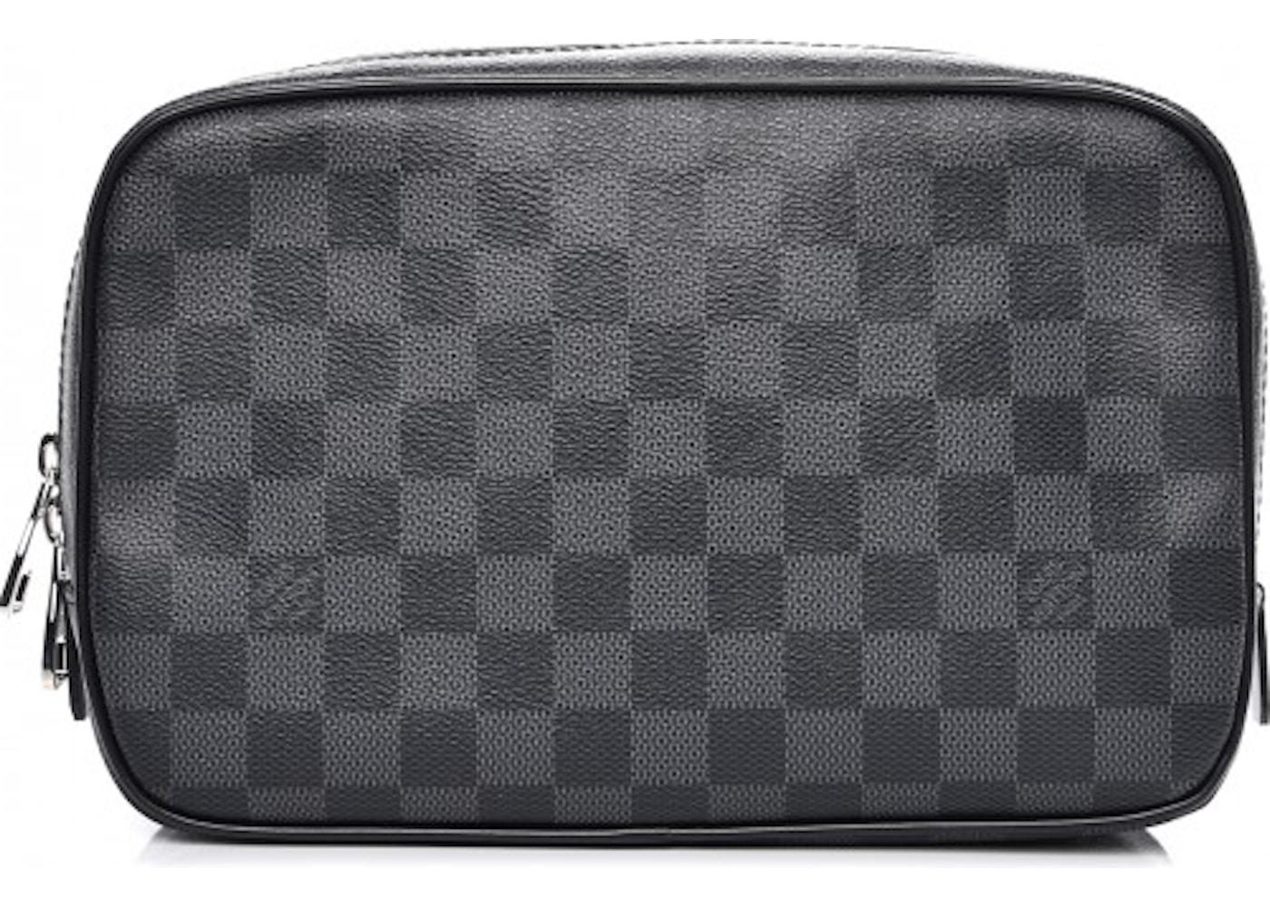 9633d8231c63 Louis Vuitton Toiletry Bag Damier Graphite GM Black. Damier Graphite GM  Black