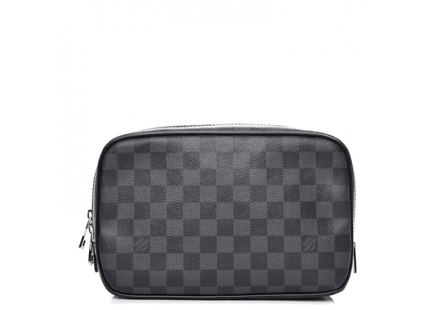 00d4762f85 Louis Vuitton Toiletry Bag Damier Graphite GM Black