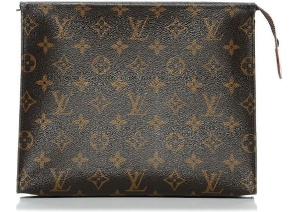 c05a9d9a3 Louis Vuitton Pouch Toiletry Monogram 26 Brown