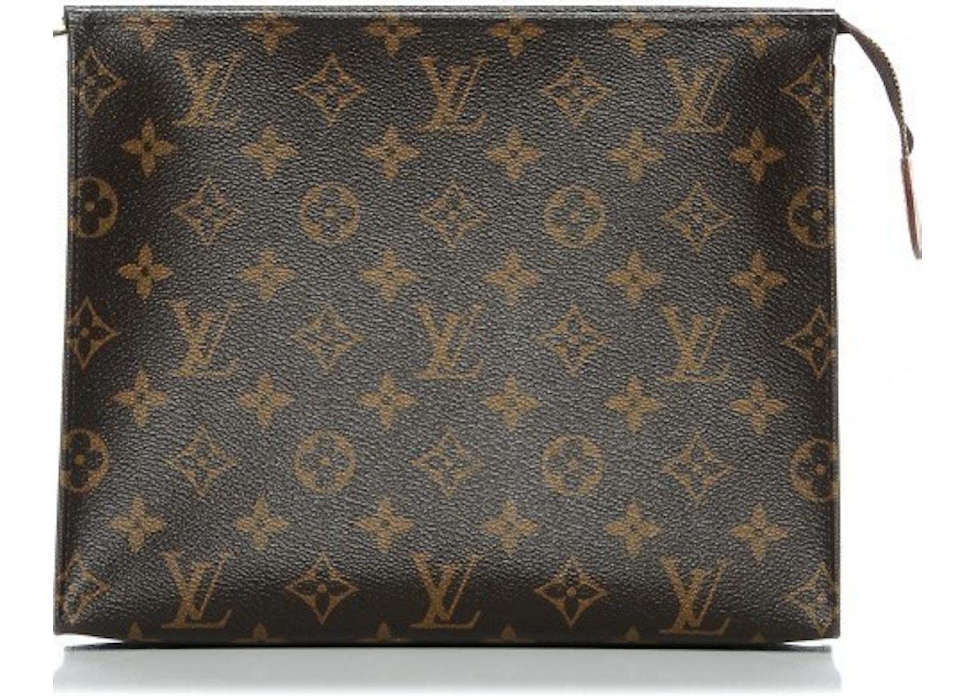 011bf1f7058c Louis Vuitton Pouch Toiletry Monogram 26 Brown. Monogram 26 Brown