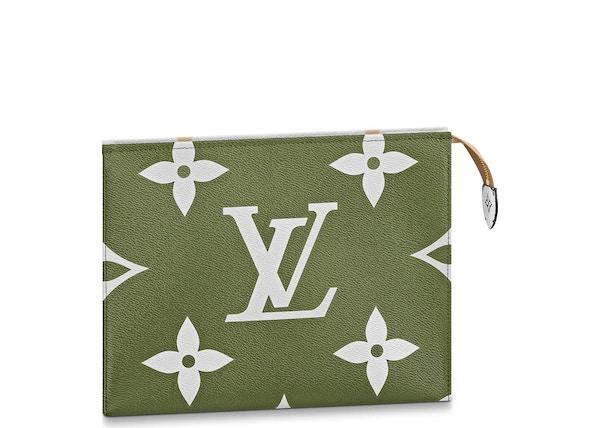 1f1e4b452435 Louis Vuitton Toiletry Pouch Monogram Giant Khaki Green Beige