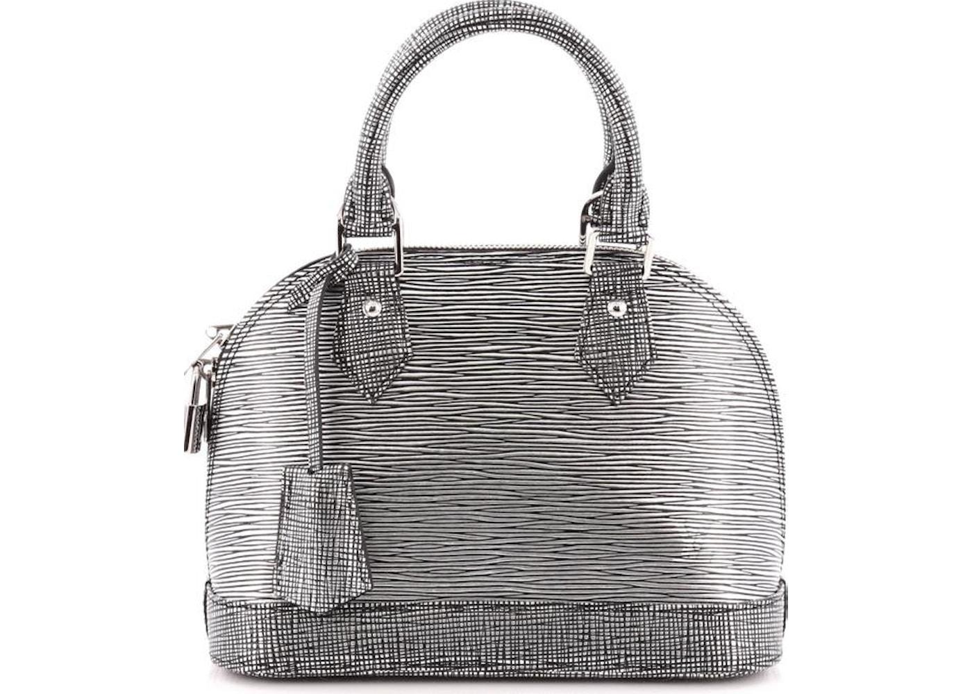 1b993060b550 Louis Vuitton Top Handle Alma Epi BB Silver Black