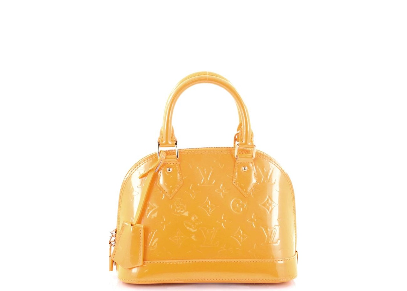 Louis Vuitton Top Handle Alma Monogram Vernis BB Yellow. Monogram Vernis BB  Yellow ad835de013f64