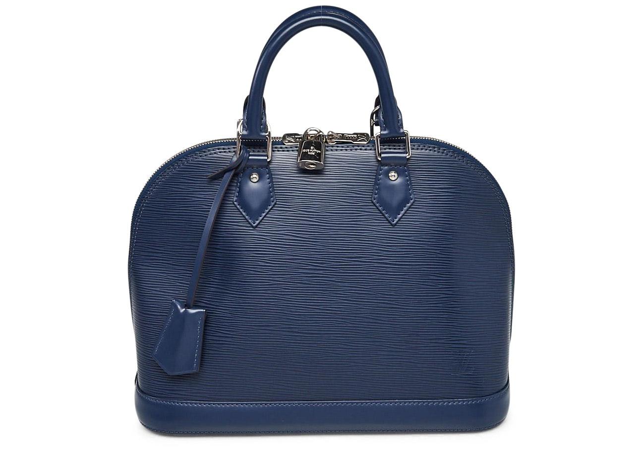 Louis Vuitton Top Handle Alma Epi PM Indigo