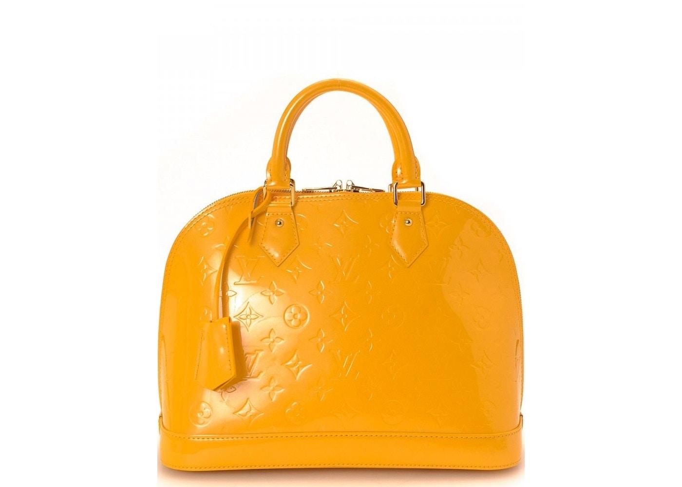50ab2b958c05 View All Bids. Louis Vuitton Top Handle Alma Monogram Vernis PM Mango.  Monogram Vernis PM Mango