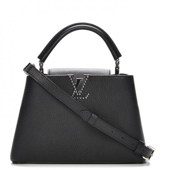 Louis Vuitton Top Handle Capucines Taurillon Studded BB Noir Black
