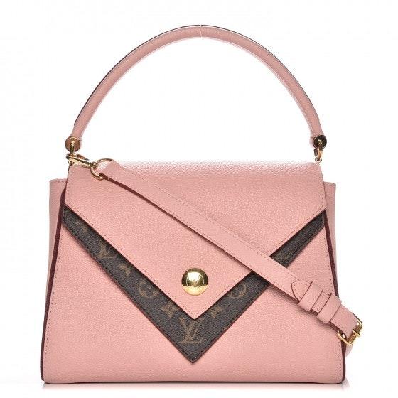 Louis Vuitton Top Handle Double V Monogram Grained Rose Poudre