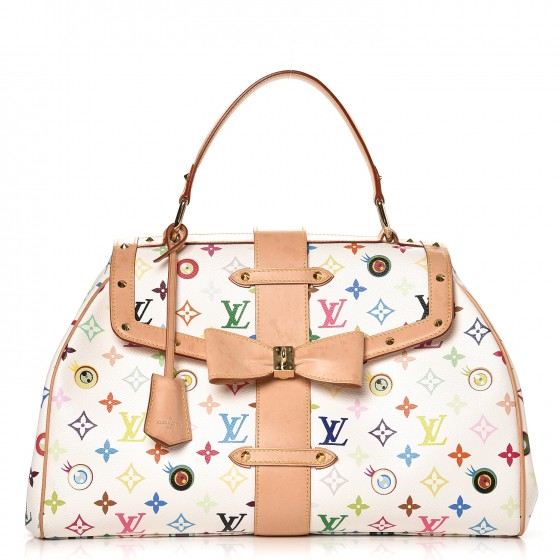 0ca108f5aebb4 Louis vuitton top handle eye love u you murakami monogram multicolor blanc  white monogram multicolor blanc