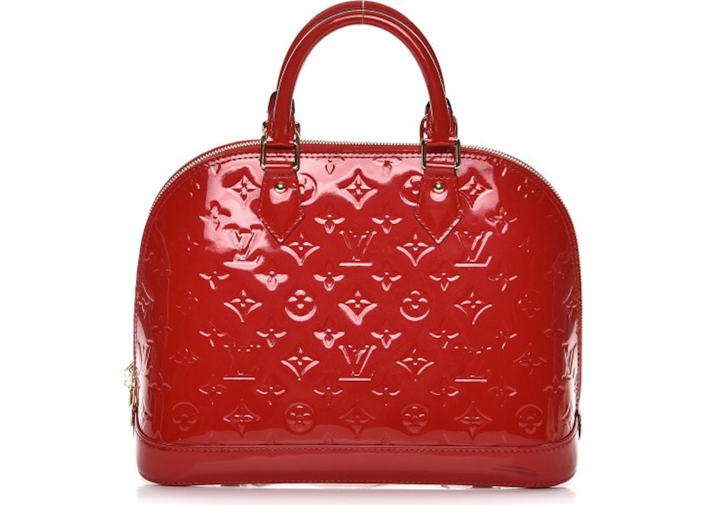 38cad32b74 Louis Vuitton Tote Alma Monogram Vernis PM Cerise Cherry. Monogram Vernis PM  Cerise Cherry