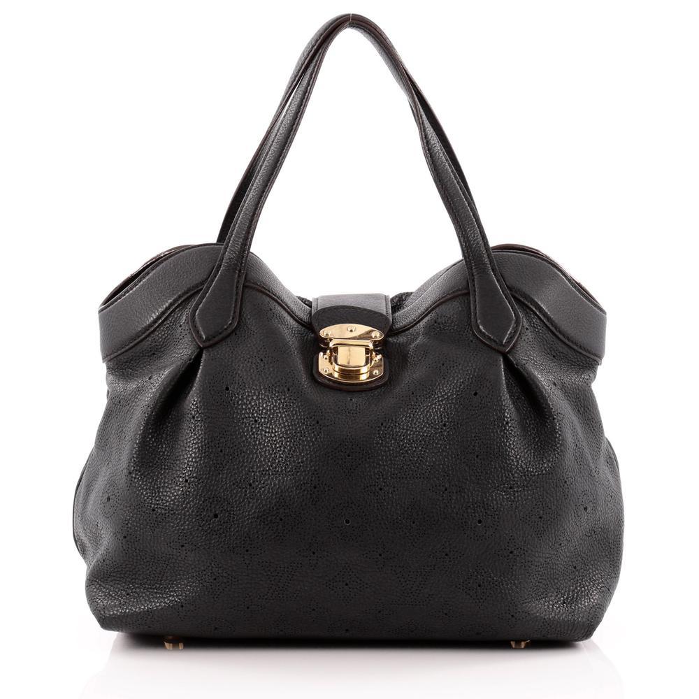 Louis Vuitton Tote Cirrus Monogram Mahina Pm Black