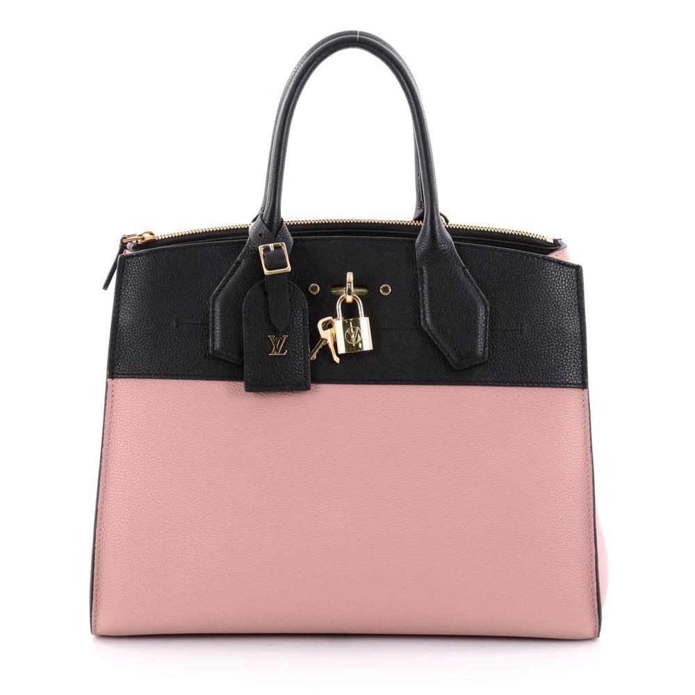 Louis Vuitton Tote City Steamer MM Rose/Black