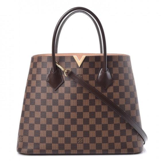 Louis Vuitton Tote Kensington Damier Ebene With Accessories Brown