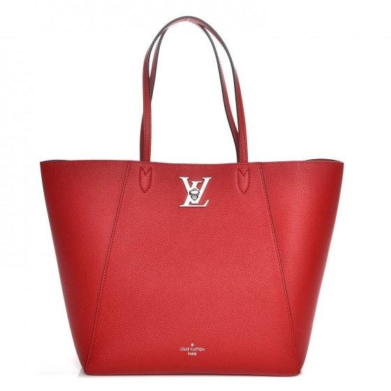 Louis Vuitton Tote Lockme Cabas Rubis