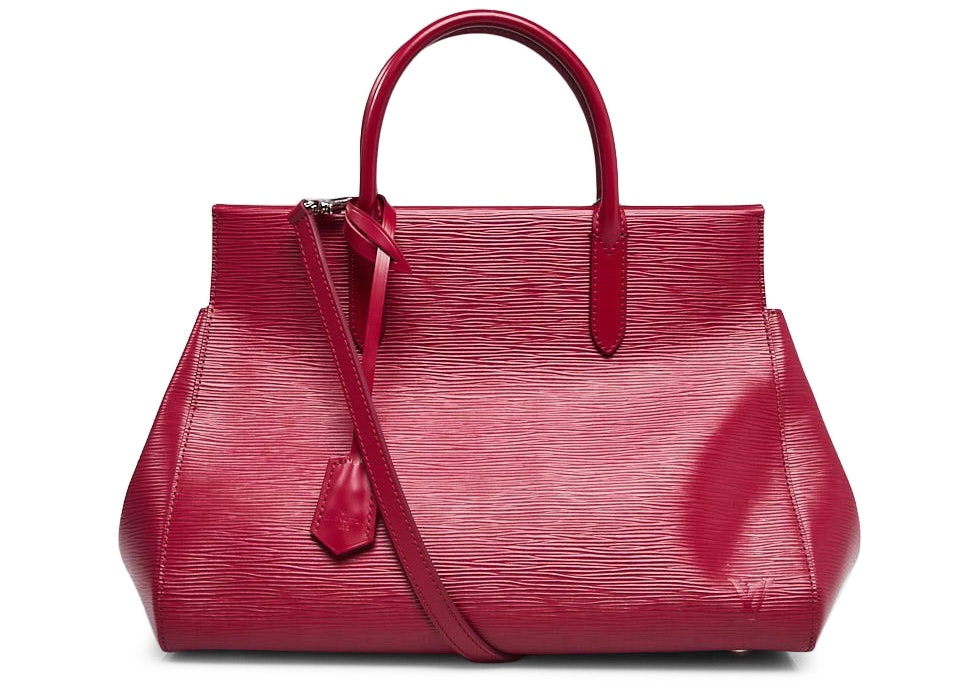 Louis Vuitton Tote Marly Epi With Accessories MM Fuchsia