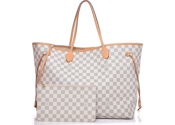Louis Vuitton Neo Neverfull (With Pouch) Damier Azur GM Beige e2442ecdef