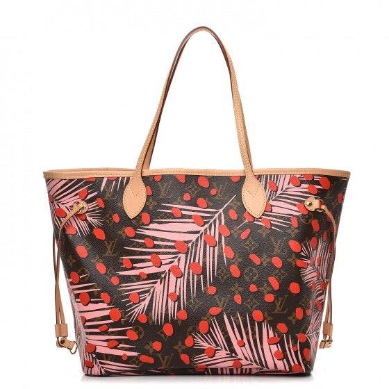 Louis Vuitton Tote Neverfull Neo Monogram Palm Springs Jungle MM Sugar Pink Poppy