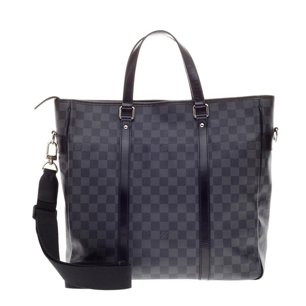 Louis Vuitton Tote Tadao Damier Graphite MM Black