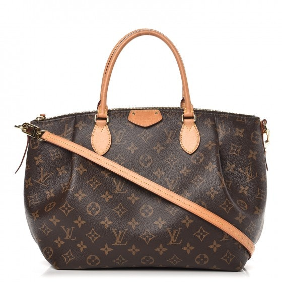 Louis Vuitton Tote Turenne Monogram With Accessories MM Brown