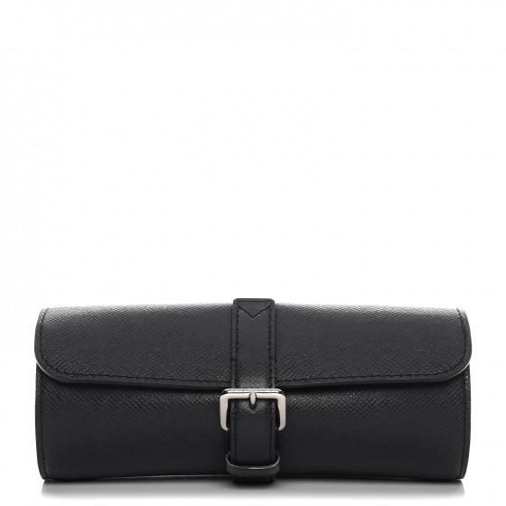 Louis Vuitton Travel Case 3 Watch Taiga Ardoise
