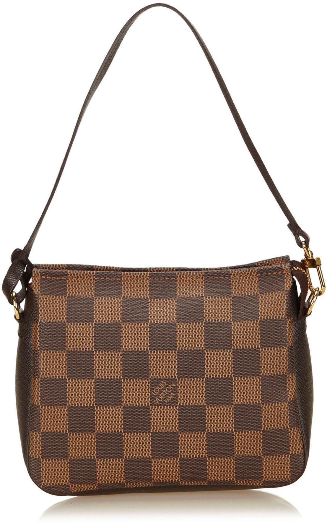 Louis Vuitton Trousse Pochette Damier Ebene Brown